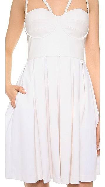 Catherine Malandrino Fit & Flare Bustier Dress