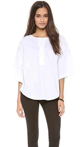 Catherine Malandrino Oversized Blouse with Shoulder Detail