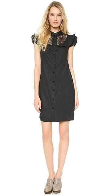 Catherine Malandrino Button Down Lace Shirtdress
