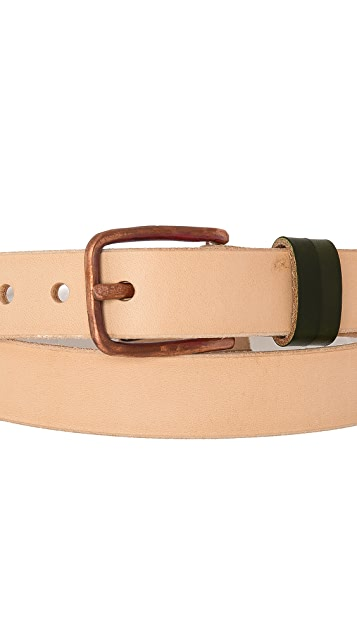 Cause and Effect Natural Leather Belt