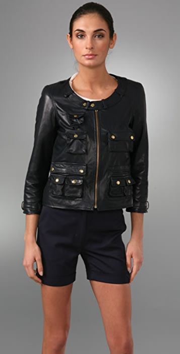 Chris Benz Sunrise Leather Jacket
