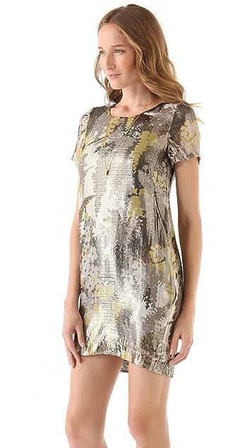 Chris Benz Short Sleeve Printed Dress