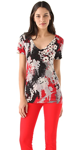 Chris Benz Printed Cashmere Tee