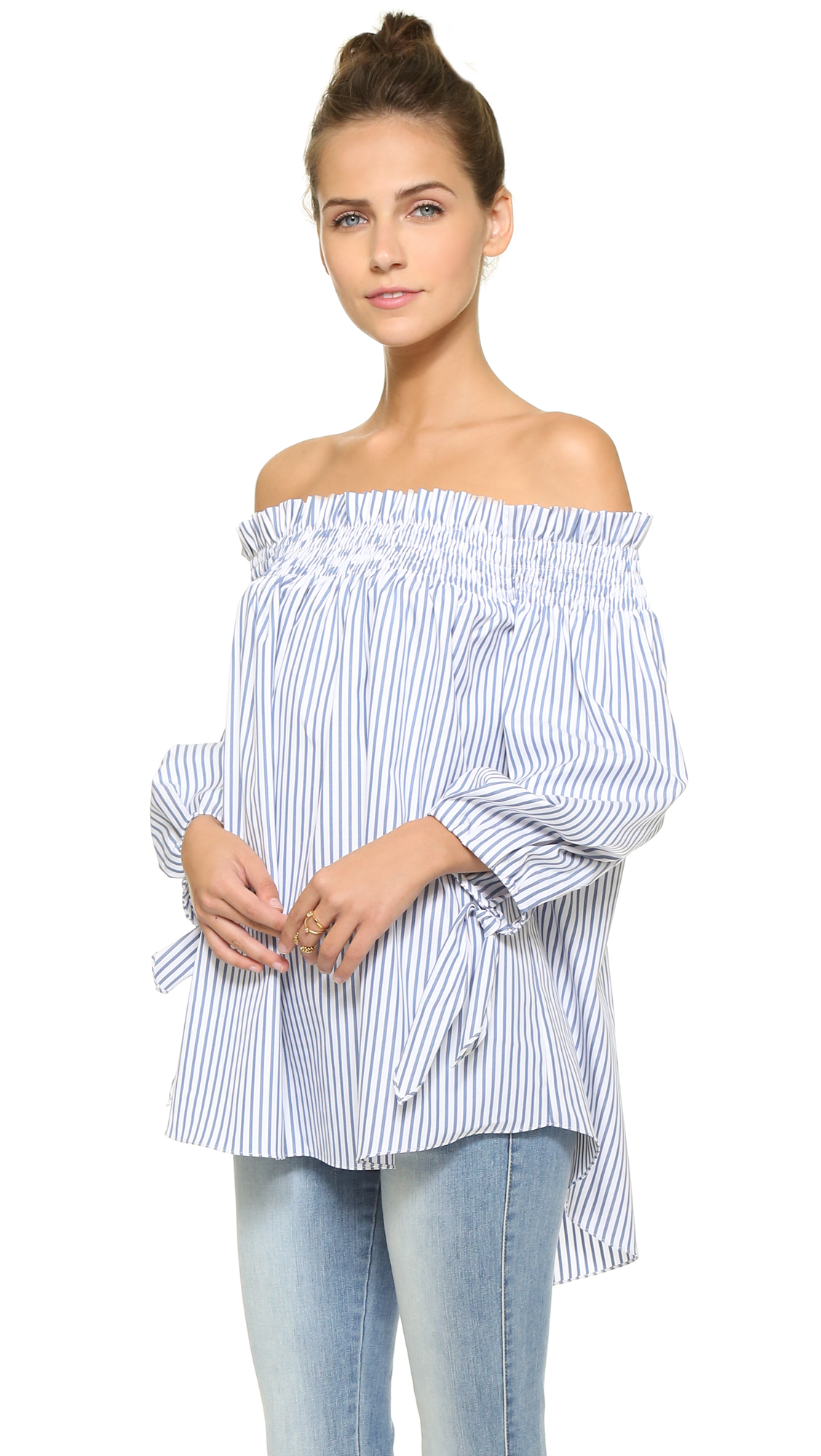 79160b9cf03c9c Caroline Constas Lou Off the Shoulder Blouse