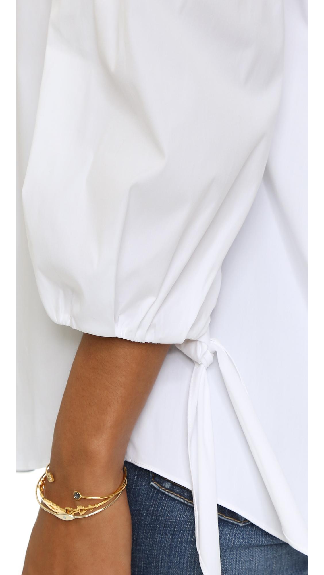 Блуза Lou с открытыми плечами Caroline Constas  (CCONS3001093603116)