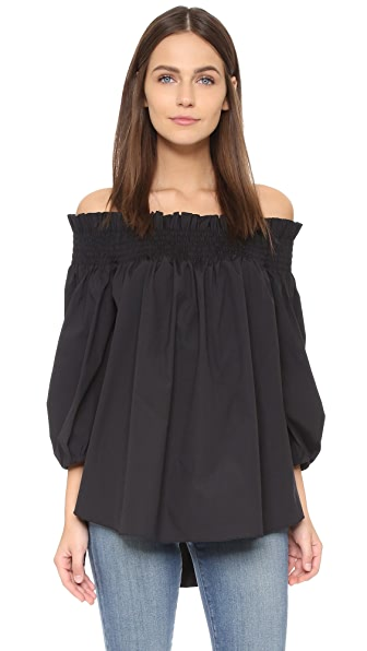 Caroline Constas Lou Off Shoulder Blouse - Black