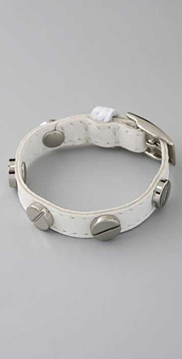 CC SKYE Leather Screw Bracelet