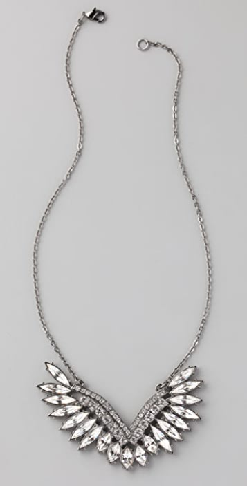 CC SKYE Crystal Angel Wing Necklace
