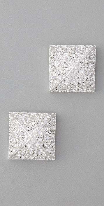 CC SKYE Pave Pyramid Stud Earrings