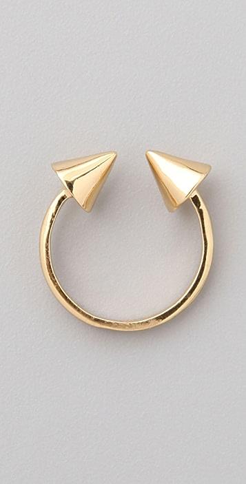 CC SKYE Gold Spike Double Header Ring
