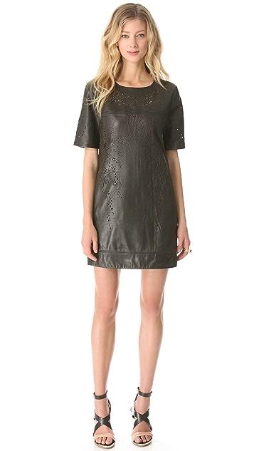 Catherine Deane Olina Leather Shift Dress