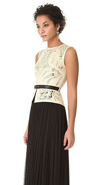 Catherine Deane Odessa Leather Top Dress