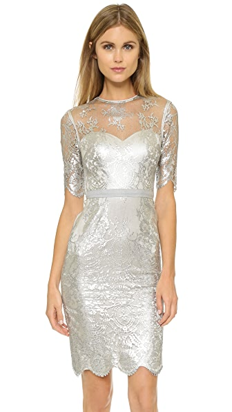 Catherine Deane Cali Metallic Lace Dress
