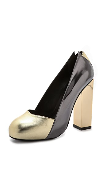 Charline De Luca Lolita Metallic Pumps