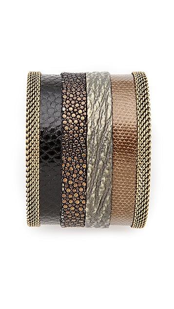 Cynthia Desser Stripe Reversible Wide Cuff