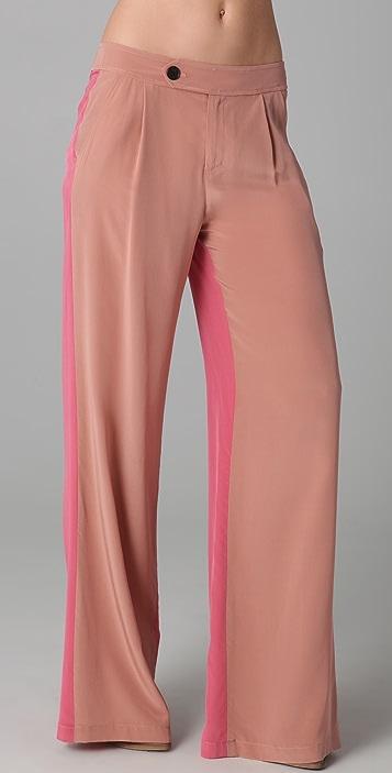 Derek Lam 10 Crosby Wide Leg Colorblock Trousers