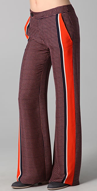 Derek Lam 10 Crosby Wide Leg Print Trousers