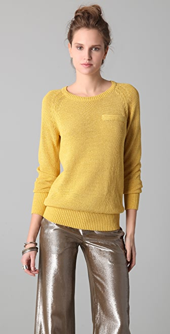 Derek Lam 10 Crosby Long Sleeve Crew Neck Sweater