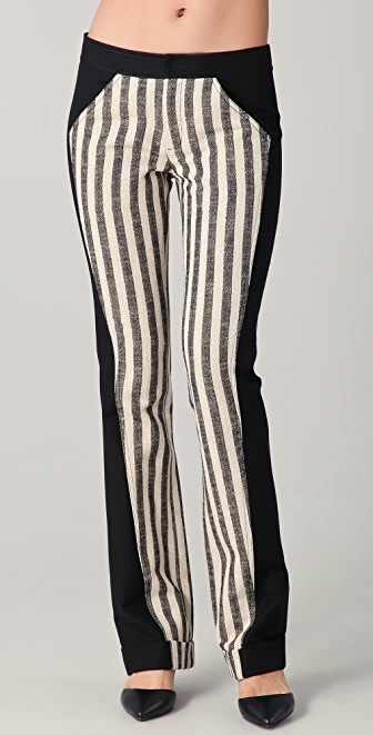Derek Lam 10 Crosby Straight Leg Cuffed Combo Pants