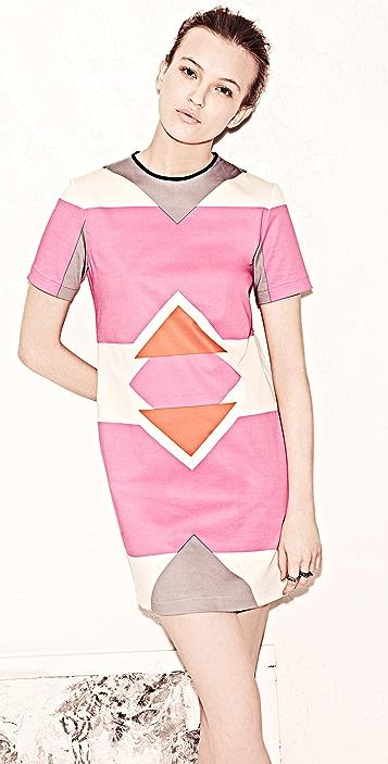 Derek Lam 10 Crosby Short Sleeve Graphic Print Dress