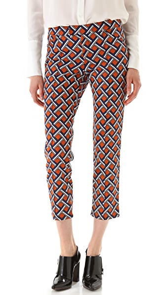 Derek Lam 10 Crosby Lattice Print Cropped Pants
