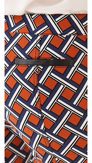 Derek Lam 10 Crosby Lattice Print Cropped Pants