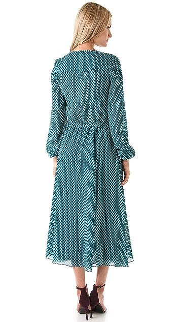 Derek Lam 10 Crosby Domino Print Dress
