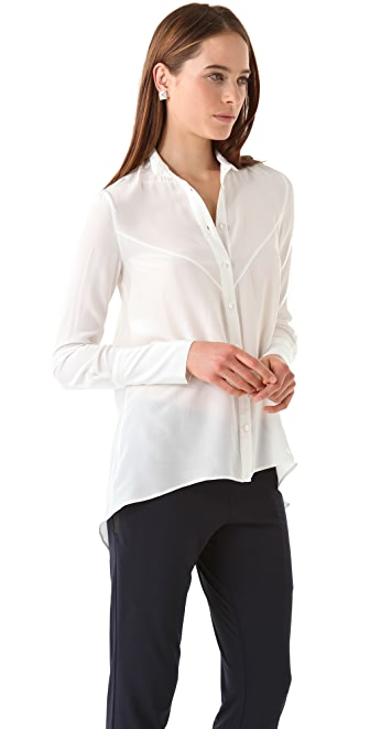 Derek Lam 10 Crosby Button Down Shirttail Blouse