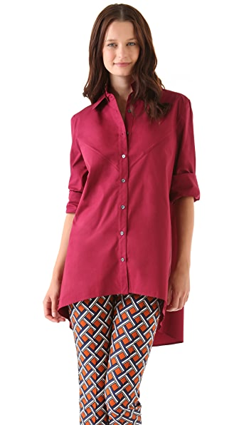 Derek Lam 10 Crosby Shirttail Button Down Blouse