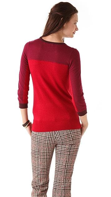 Derek Lam 10 Crosby Three Tone Crew Neck Sweater