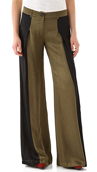 Derek Lam 10 Crosby Colorblock Wide Leg Trousers