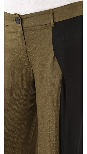 Derek Lam 10 Crosby Colorblock Wide Leg Trousers