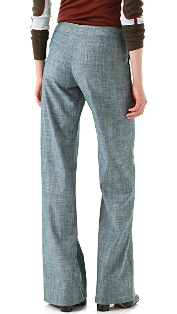 Derek Lam 10 Crosby Chambray Pants