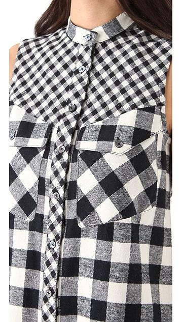 Derek Lam 10 Crosby Flannel Sleeveless Dress