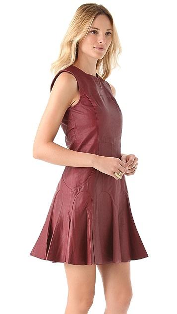 Derek Lam 10 Crosby Leather Tulip Dress