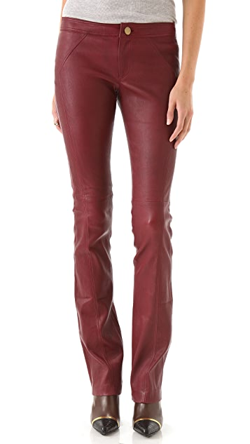 Derek Lam 10 Crosby Leather Bootleg Pants