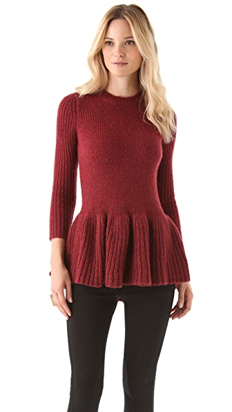 Derek Lam 10 Crosby Peplum Sweater