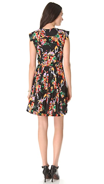 Derek Lam 10 Crosby Floral Short Sleeve Dress