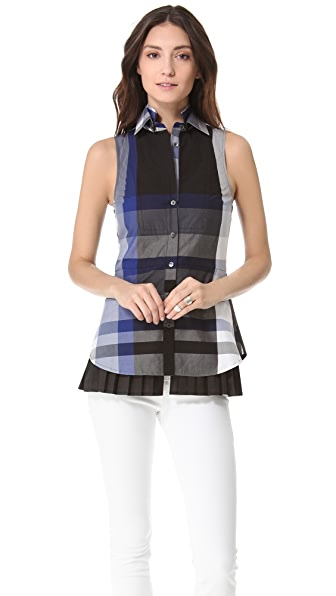 Derek Lam 10 Crosby Double Collar Plaid Blouse