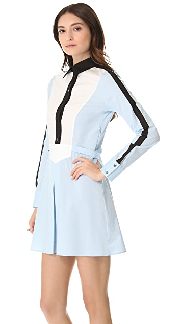 Derek Lam 10 Crosby Colorblock Shirtdress