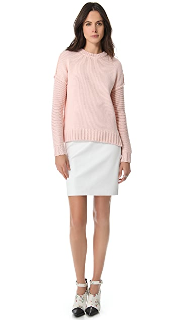 Derek Lam 10 Crosby Chunky Cotton Sweater