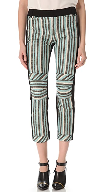 Derek Lam 10 Crosby Three Tone Striped Pants