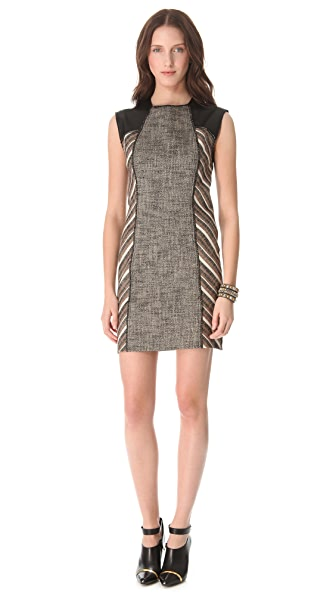 Derek Lam 10 Crosby Linen Lurex Sheath Dress