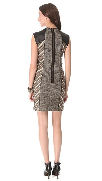 Derek Lam 10 Crosby Linen Lurex Sheath Dress
