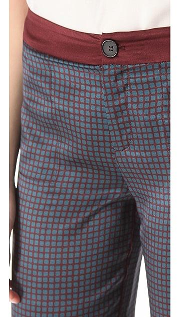 Derek Lam 10 Crosby Printed Wide Leg Pants