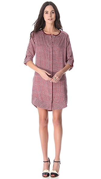Derek Lam 10 Crosby Square Print Tunic Dress