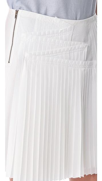 Derek Lam 10 Crosby Poplin Pleated Skirt