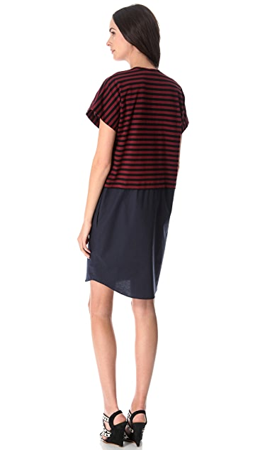Derek Lam 10 Crosby Combo Poplin Dress