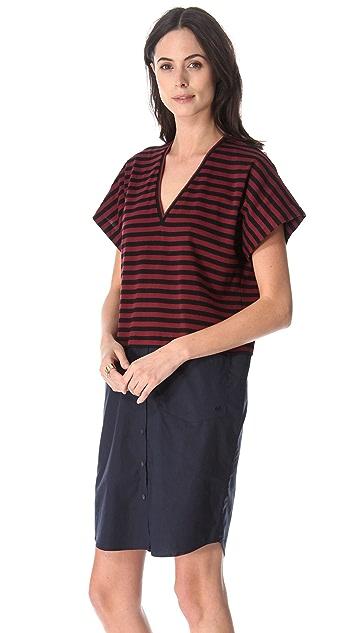 Derek Lam 10 Crosby Combo Poplin Dress