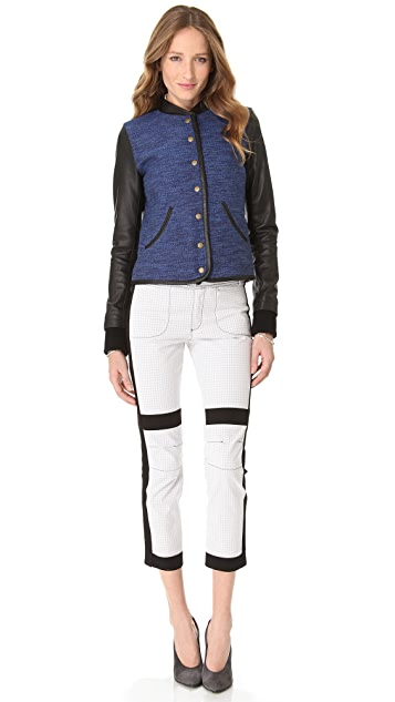 Derek Lam 10 Crosby Double Face Cropped Pants